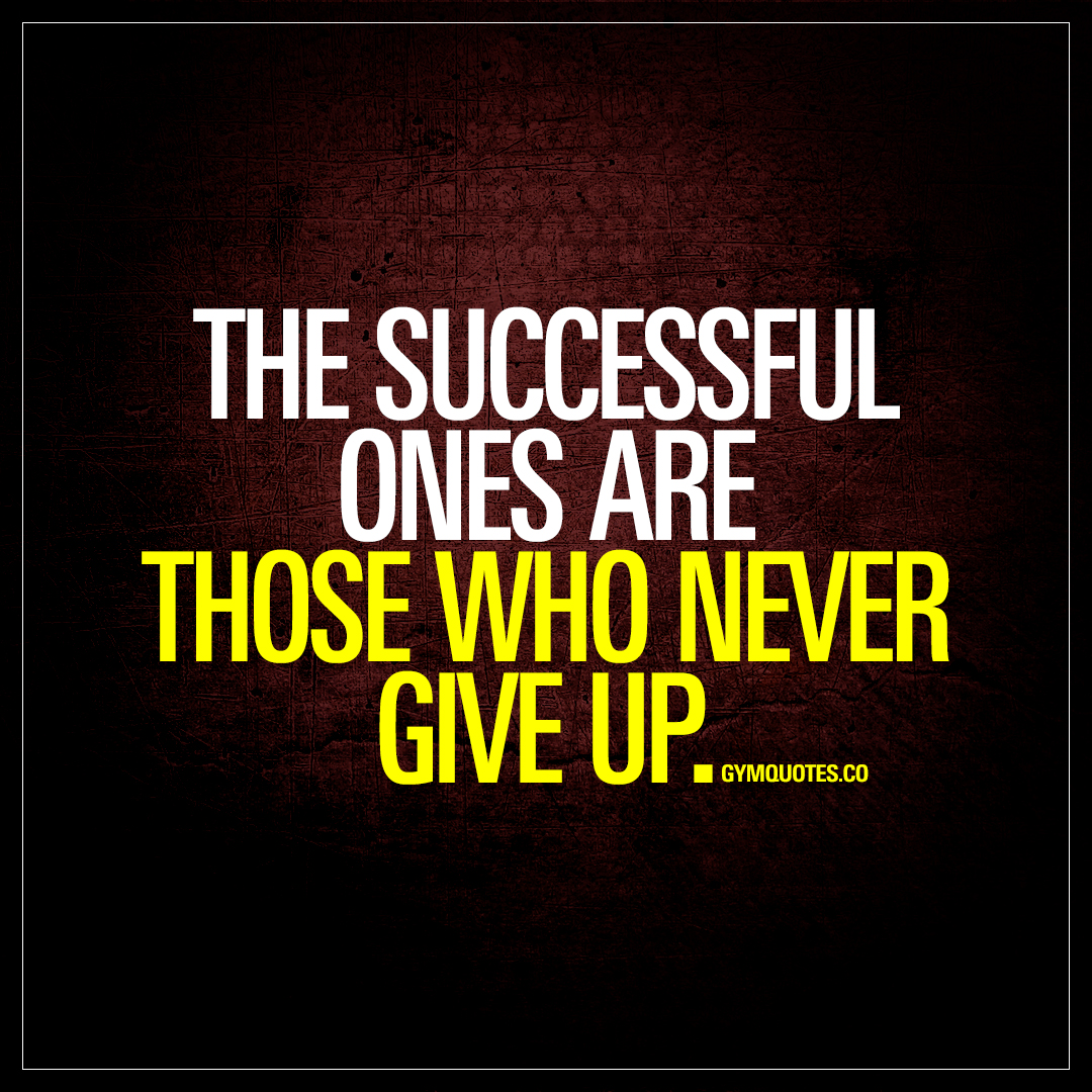 Never Giving Up Quotes: The Successful Ones Are Those Who Never Give Up