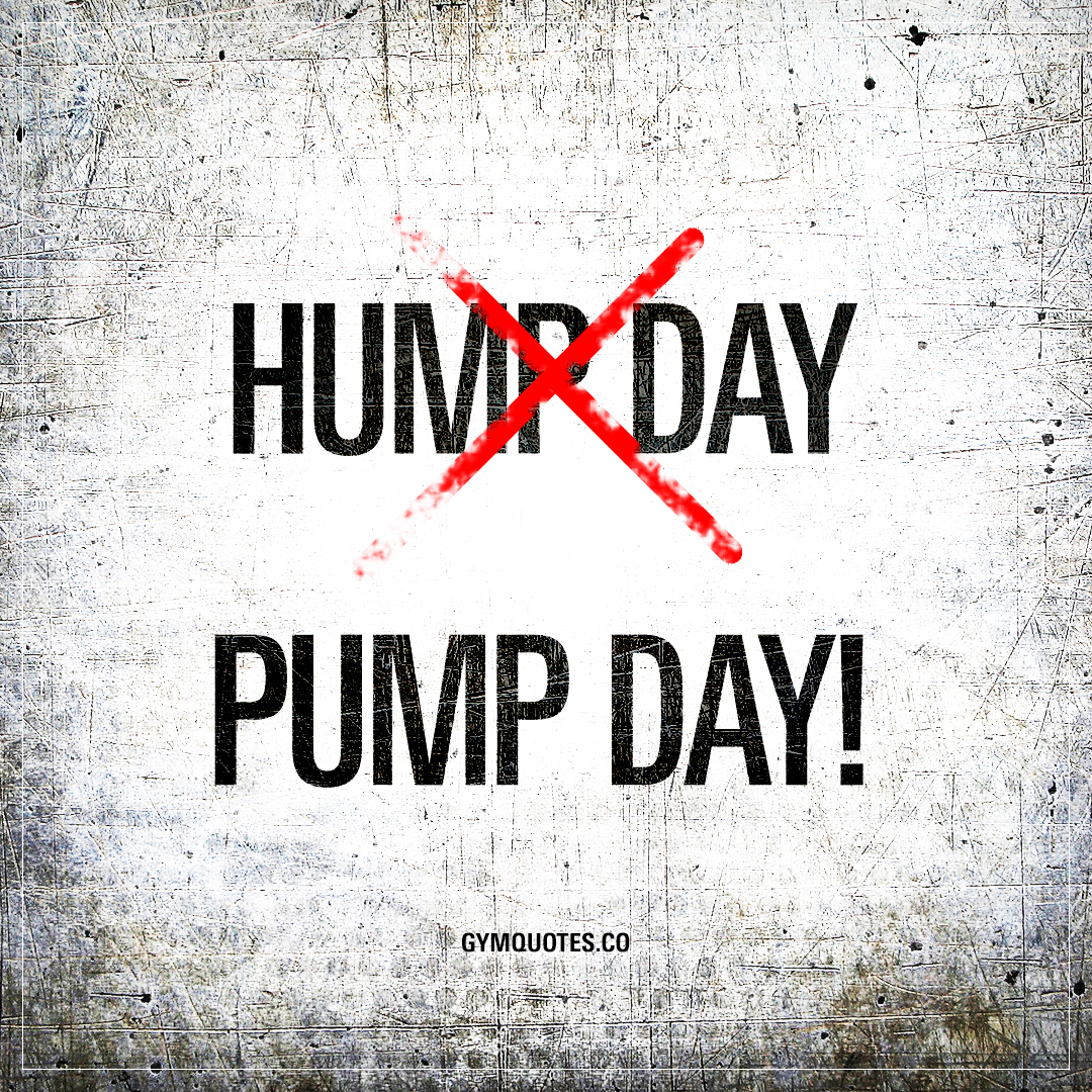 Hump Day. Pump Day!