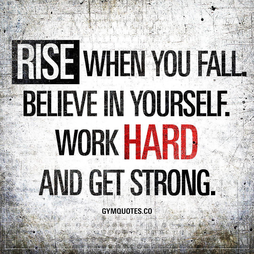 Believe In Yourself Fitness Motivation