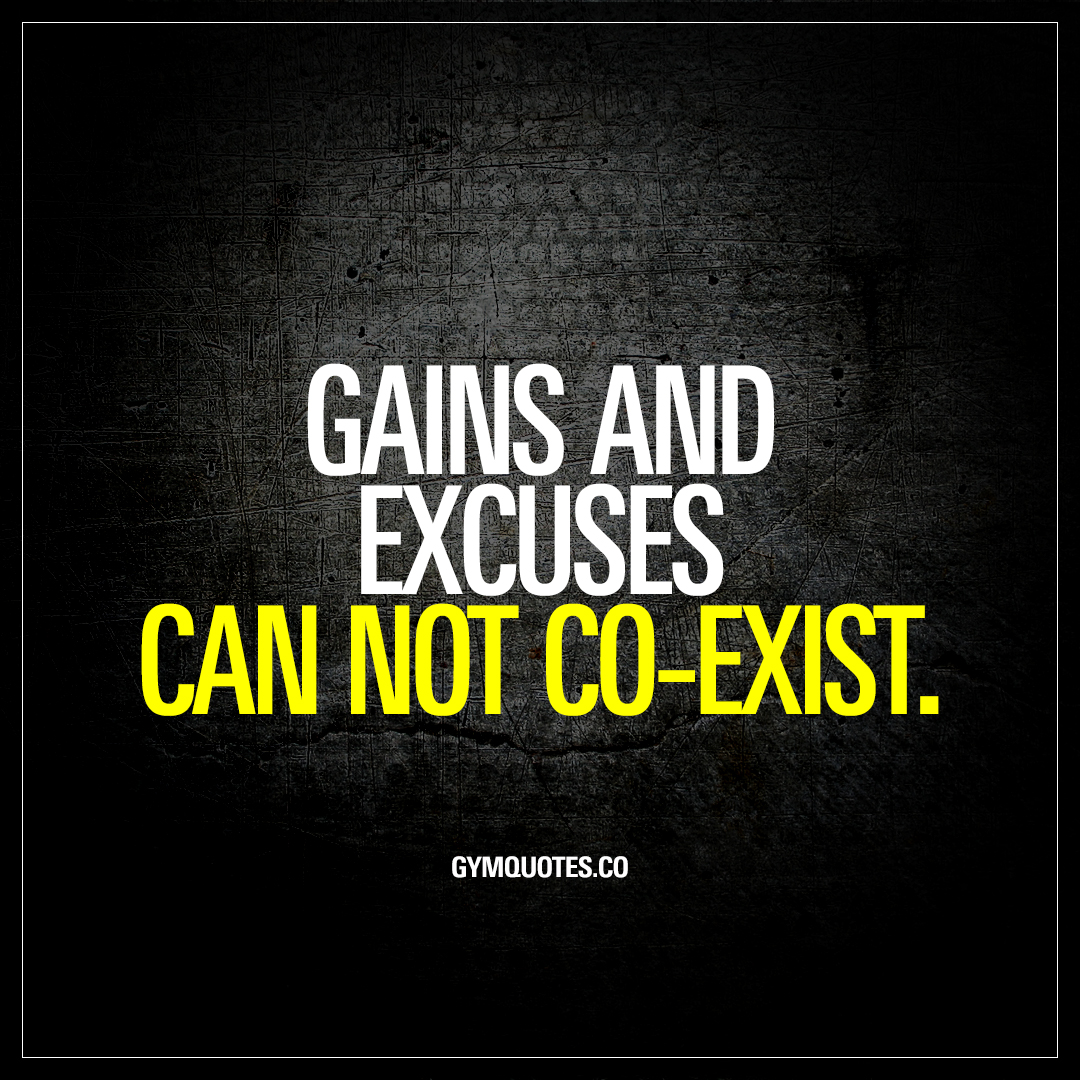 Gains and excuses can not co-exist.