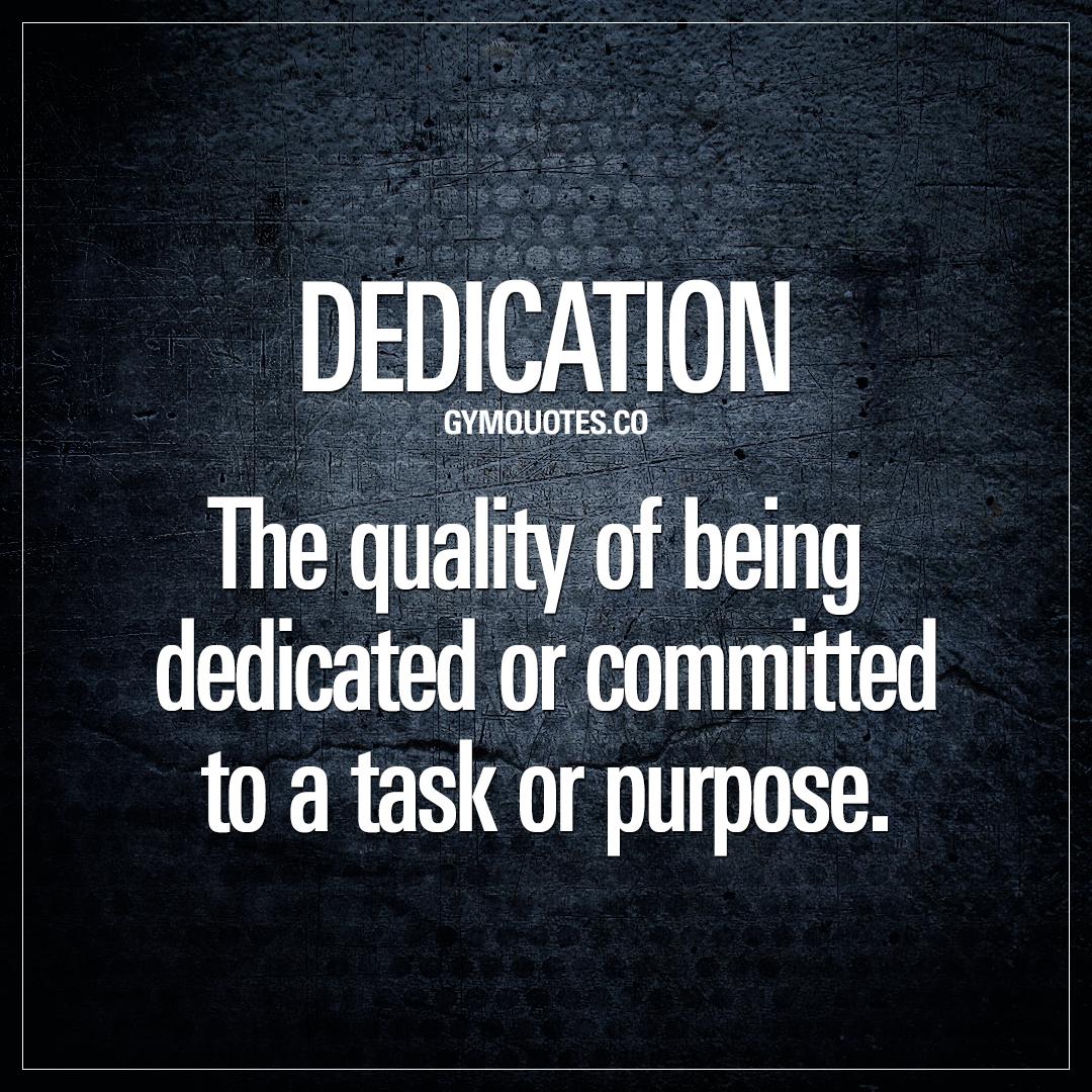 Dedication.