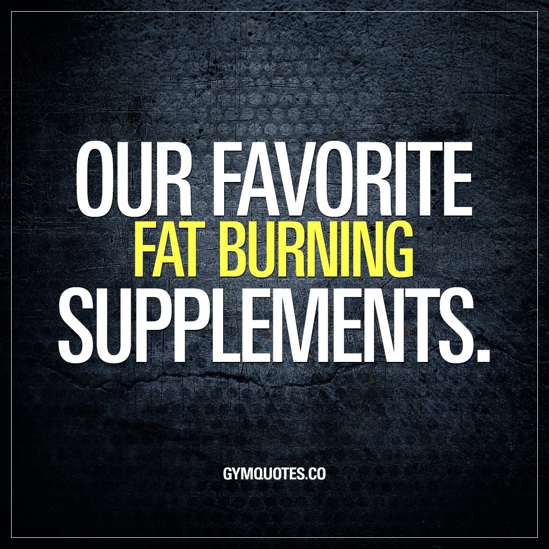 Our favorite fat burning supplements that can help you lose fat.