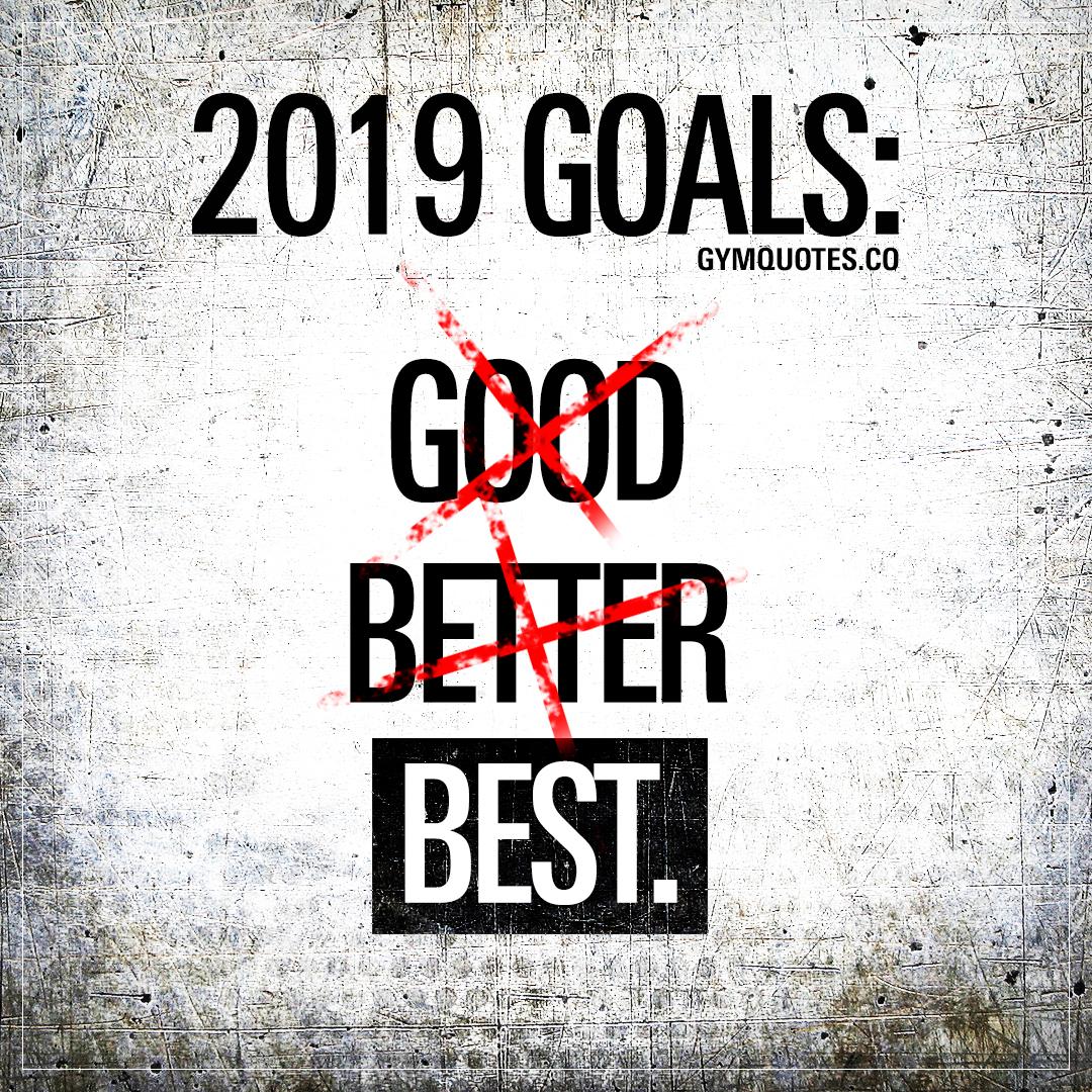 2019 goals best