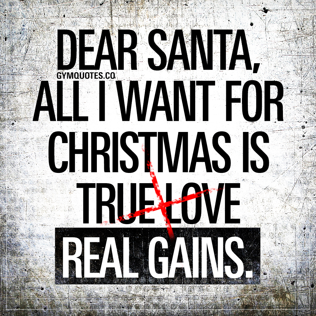 Dear Santa, all I want for Christmas is real gains.