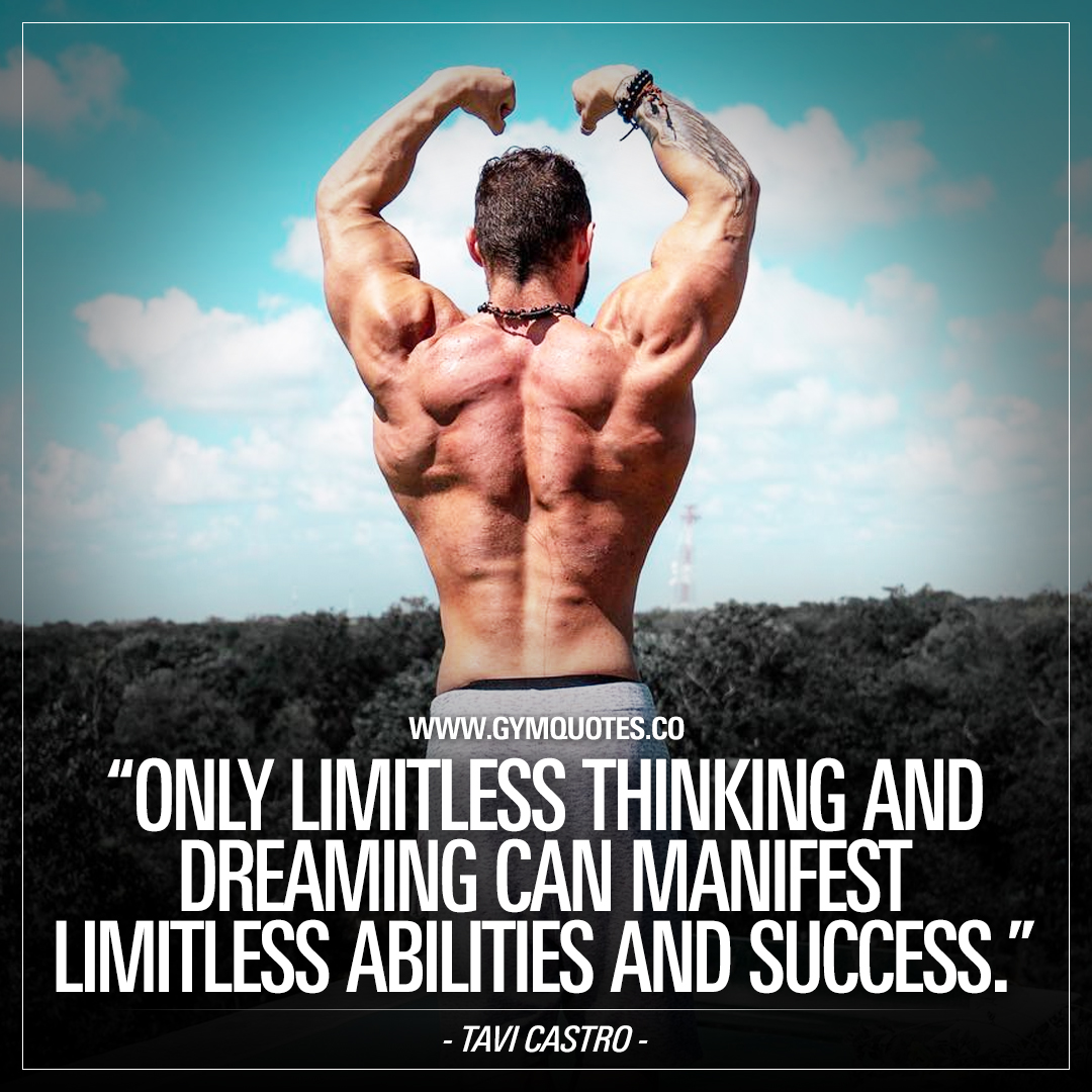 Tavi Castro quote: Only limitless thinking and dreaming can manifest limitless abilities and success.