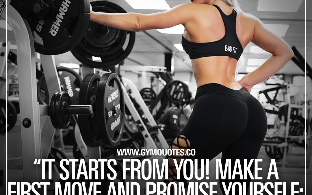 """It starts from you! Make a first move and promise yourself: """"Thats it, watch me!"""