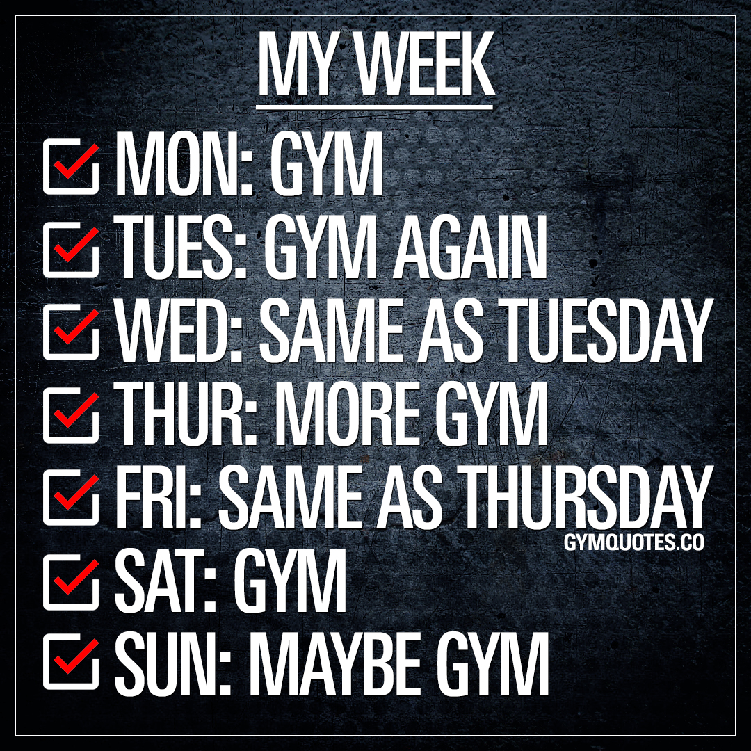 My Week at the gym.