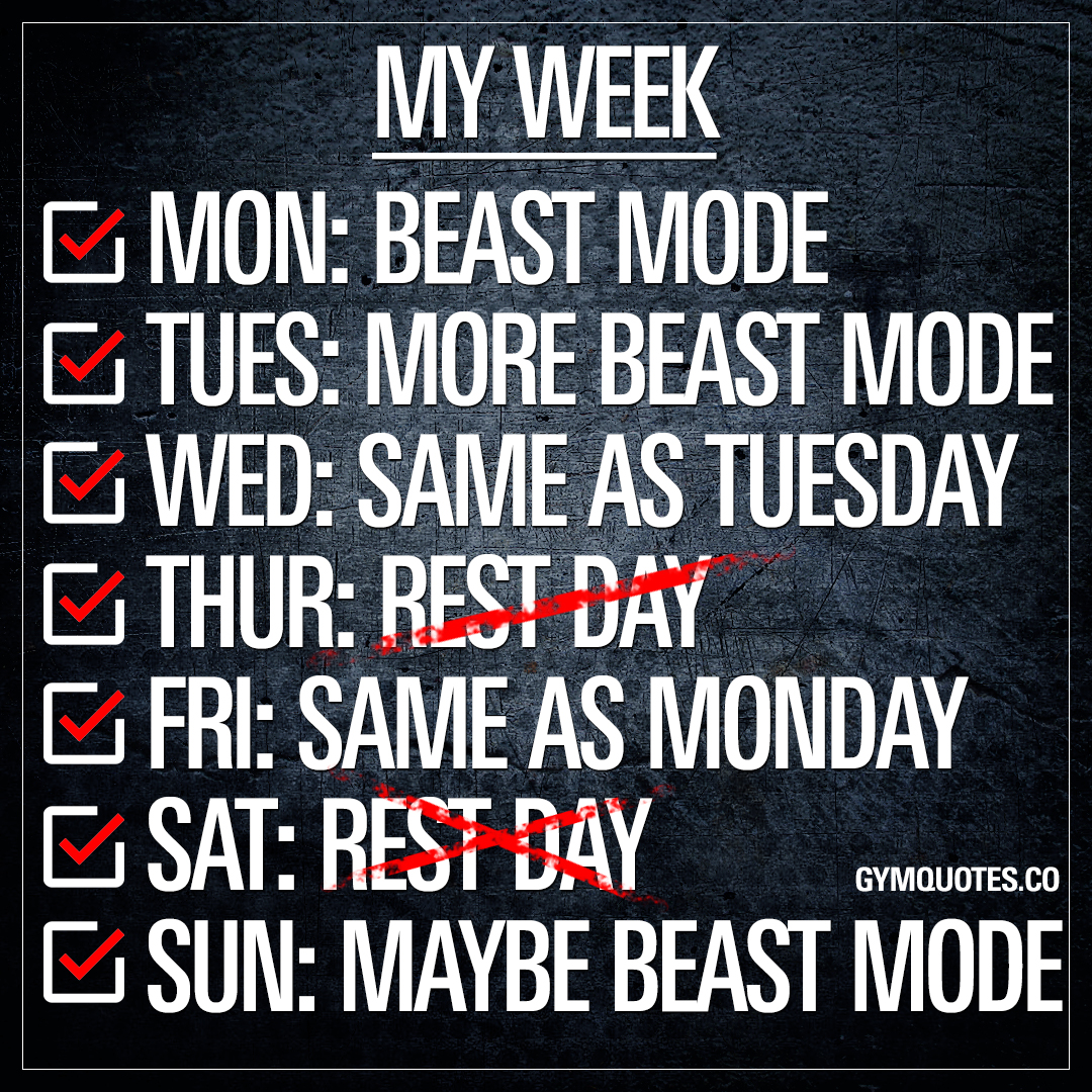 My week: Beast mode.